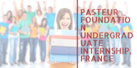Pasteur Foundation Undergraduate Internship, France 2018