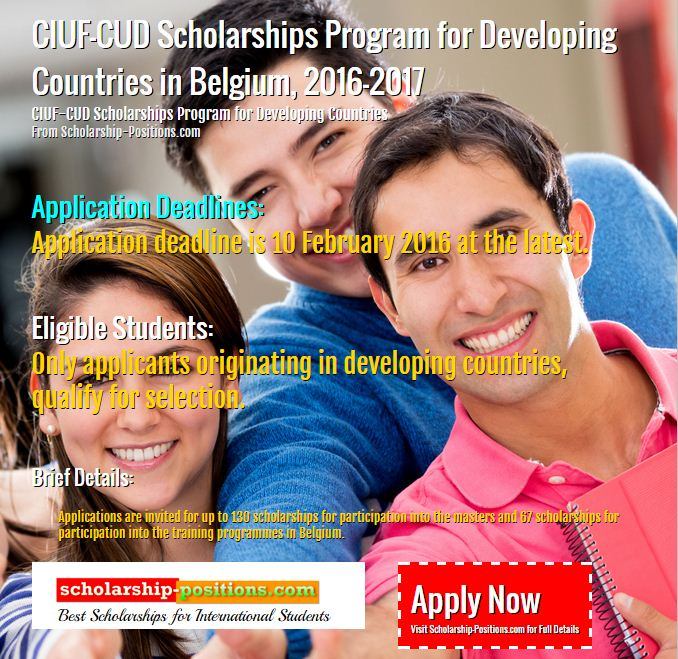 CIUF-CUD scholarships program