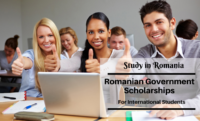 Romanian government awards for Foreign Students in Romania, 2020-2021