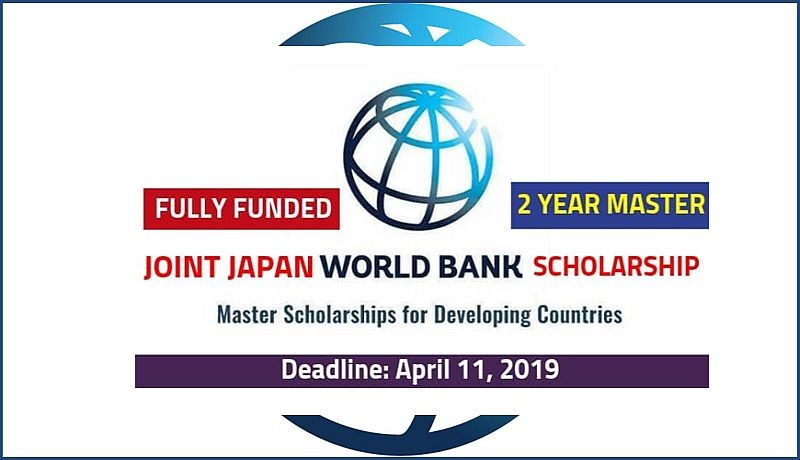 Joint Japan World Bank Graduate Scholarships for Japan and Developing Countries Students, 2019