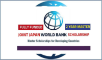 Joint Japan World Bank graduate funding opportunities for Japan and Developing Countries Students, 2020
