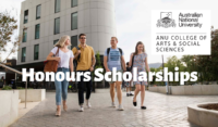 ANU College of Arts and Social Sciences Honours Scholarships in Australia, 2020