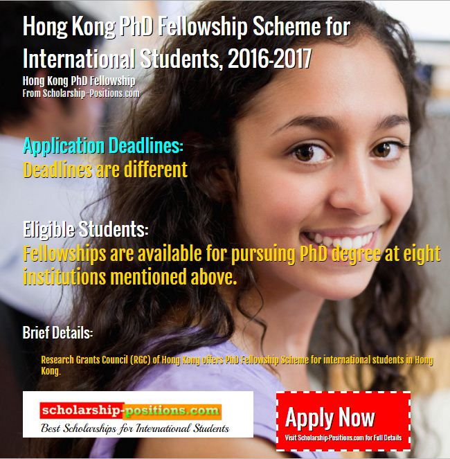 Hong Kong PhD Fellowship