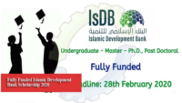 Islamic Development Bank merit awards for High Technology (MSP), 2020-2021
