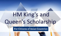 HM King's and HM Queen's Scholarships for Asian Students in Thailand, 2020