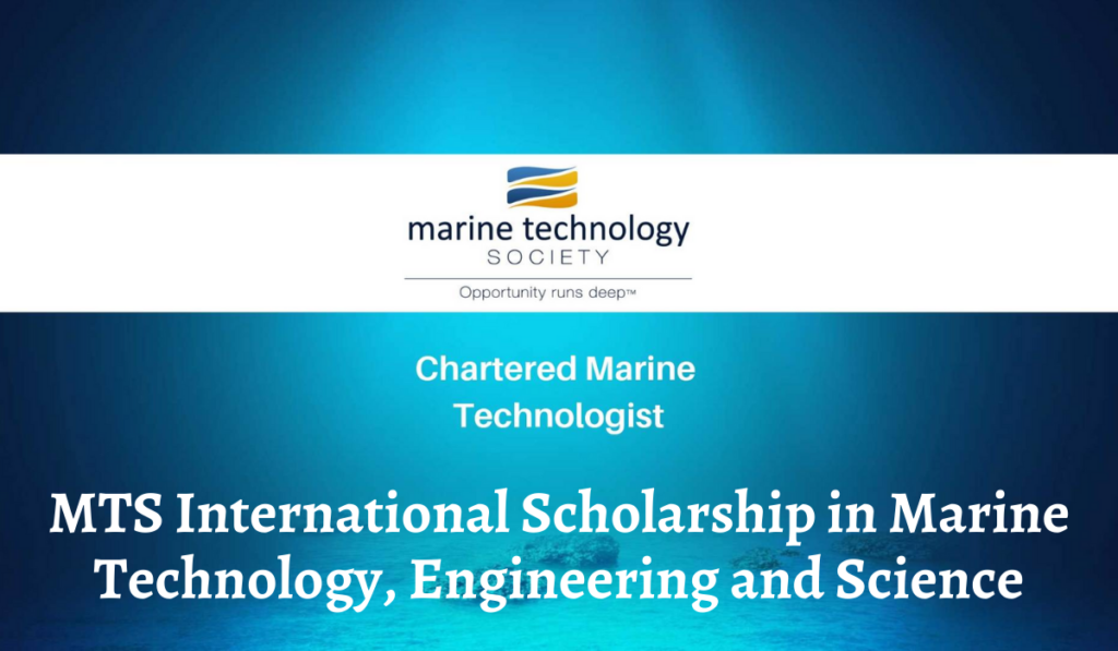 MTS International Scholarship in Marine Technology, Engineering and Science, 2020