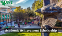 Academic Achievement Scholarship at University of North Texas in USA, 2020