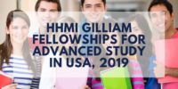 HHMI Gilliam Fellowships for Advanced Study in USA, 2019