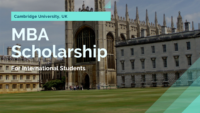 Cambridge University MBA Scholarship in UK, 2020