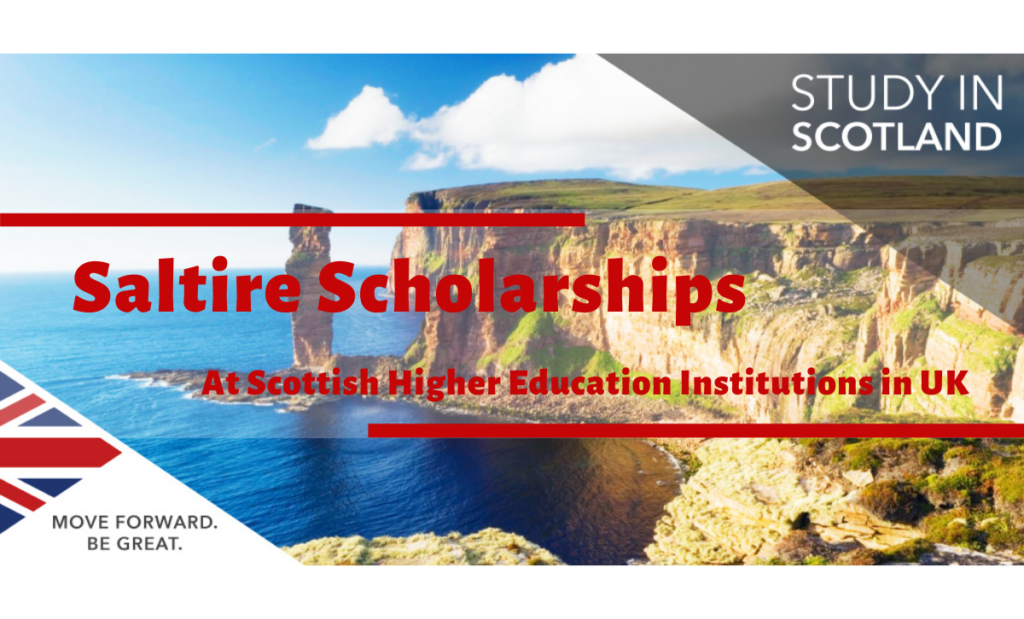 Saltire Scholarships at Scottish Higher Education Institutions in UK, 2020