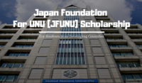 Japan Foundation for UNU (JFUNU) programme in Japan, 2020