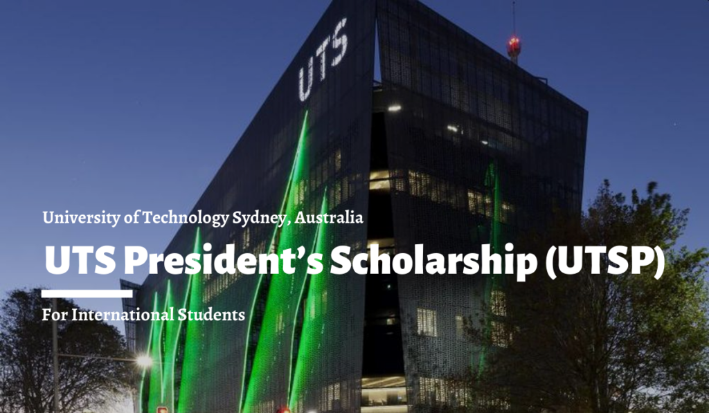 UTS President's Scholarship (UTSP) for International Students in Australia, 2020