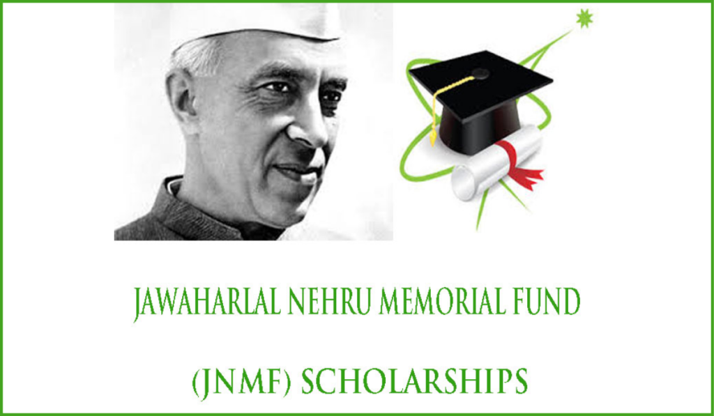 Jawaharlal Nehru Memorial Fund (JNMF) Scholarships for PhD Programme in India, 2020