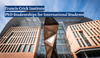 Francis Crick Institute PhD Studentships for International Students in UK, 2020