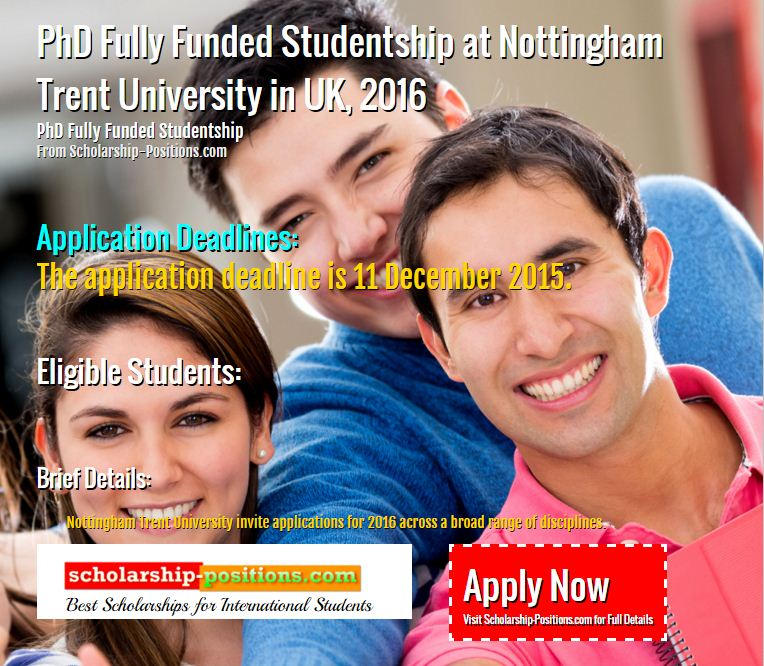 PhD Fully funded studentship