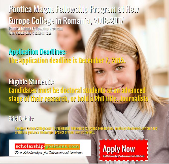 Pontica magna fellowship program