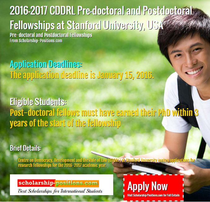 CDDRL Pre-doctoral and postdoctoral fellowships