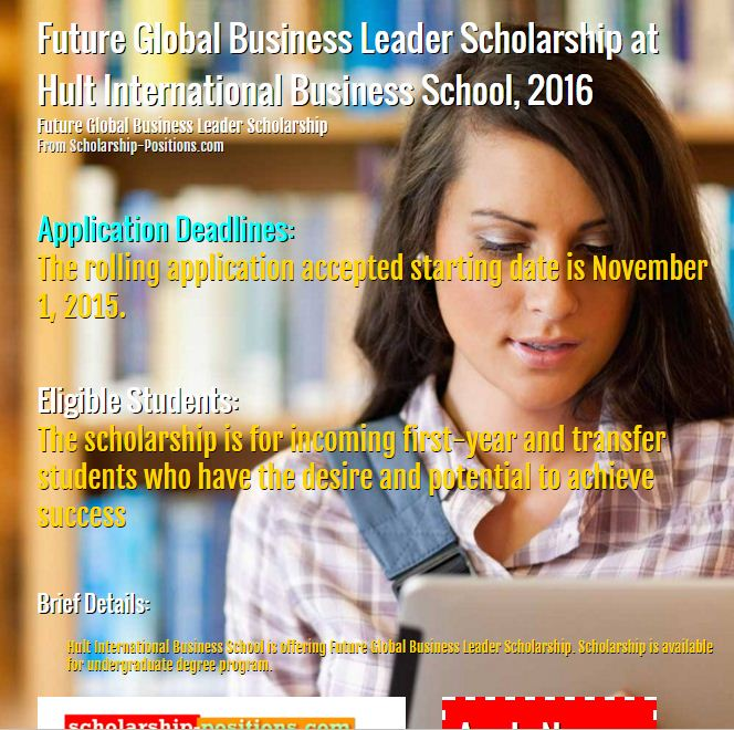 Future Global business leader scholarship