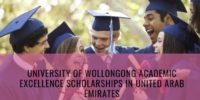 University of Wollongong Academic Excellence Scholarships in United Arab Emirates, 2019