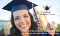 Inlaks Scholarships for Indian Students at America, Europe and UK Institutions, 2020