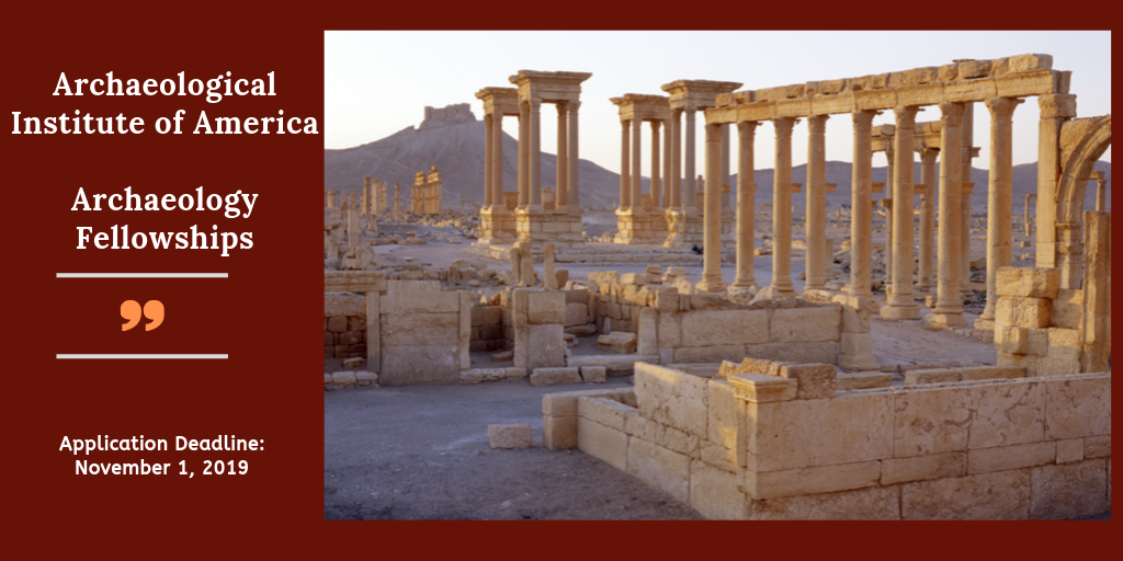 Archaeological Institute of America Archaeology Fellowships, 2020
