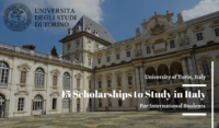 15 University of Turin Scholarships for International Students in Italy, 2020-2021