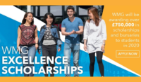 The University of Warwick Manufacturing Group Excellence Scholarships in UK, 2020