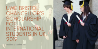 UWE Bristol Chancellor's funding for International Students in UK, 2019