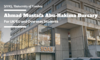 The Ahmad Mustafa Abu-Hakima Bursary in UK, 2019