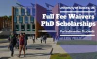 Full Fee Waivers PhD Positionsat University of Sussex in UK, 2020-21