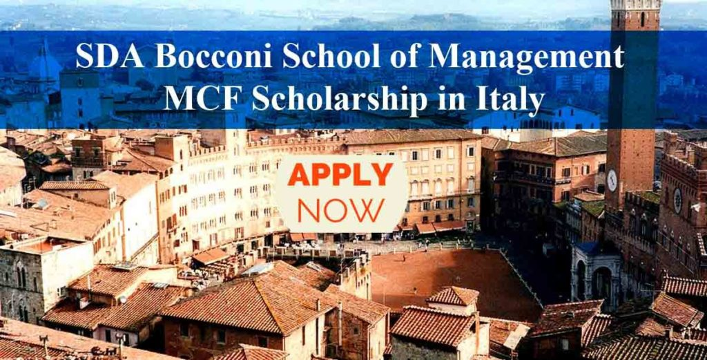 SDA Bocconi School of Management MBA Scholarships in Italy