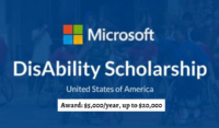 Microsoft Disability Scholarships for International Students in USA, 2020