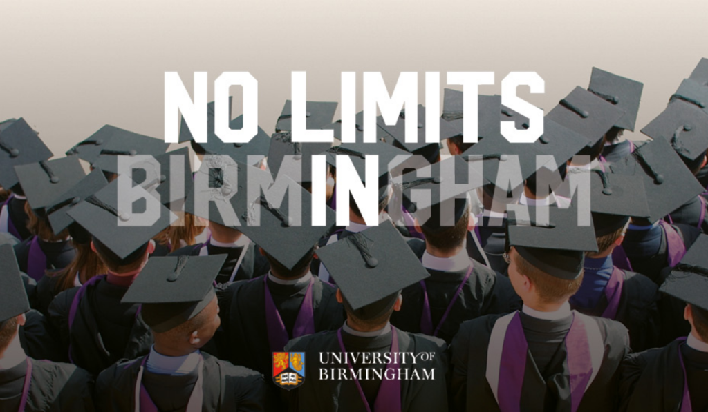 Birmingham University Global Challenges PhD Scholarship in UK