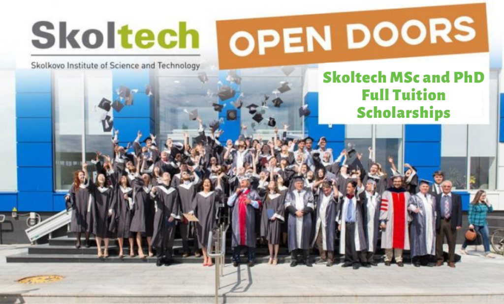 Skoltech MSc and PhD Full tuition grants for International Students in Russia, 2020