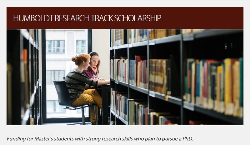 24 Humboldt Research Track PhD Positionsfor International Students in Germany, 2019