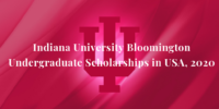 Indiana University Bloomington undergraduate financial aid in USA, 2020