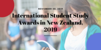 International Student Study Awards in New Zealand, 2019