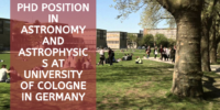 PhD Position in Astronomy and Astrophysics at University of Cologne in Germany, 2017