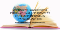 Visiting Fellowships for International Applicants at University of Basel in Switzerland, 2020