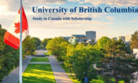 International Doctoral Fellowships at University of British Columbia in Canada, 2020
