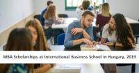 MBA Scholarships at International Business School in Hungary, 2019