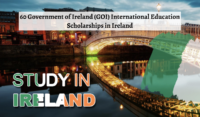 60 Government of Ireland (GOI) International Education Scholarships in Ireland, 2020