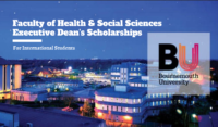 Faculty of Health & Social Sciences Executive Dean's Scholarships in UK, 2020