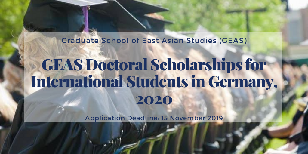 GEAS Doctoral Scholarships for International Students in Germany, 2020