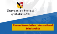 Alumni Association International Scholarship at University System of Maryland in USA, 2020