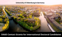 DAAD Contact Grants for International Doctoral Candidates at University of Oldenburg in Germany, 2020