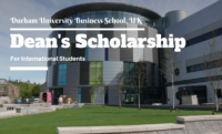Durham University Business School Dean's funding for International Students in UK, 2020