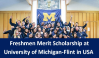 Freshmen Merit Scholarship at University of Michigan-Flint in USA, 2020
