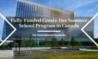 Fully-Funded Create Dav Summer School Program for International Students in Canada, 2020