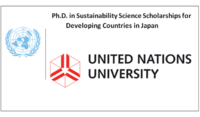 PhD in Sustainability Science Scholarships for Developing Countries in Japan, 2020
